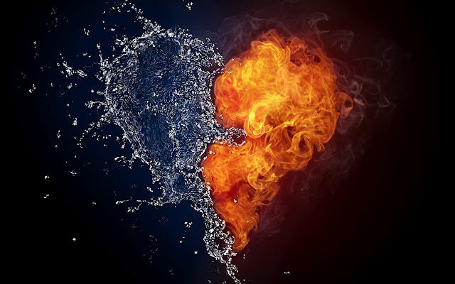 Corazón de Agua y Fuego Heart Wallpapers