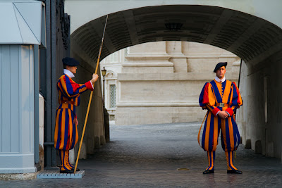 Members of The Swiss Guard - Vatican City title=