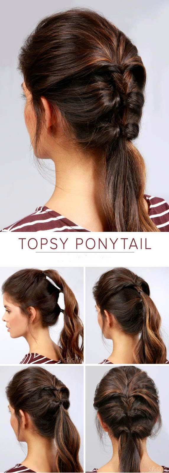 Hairstyles And Women Attire Summer Hair Styles Funky Ponytail