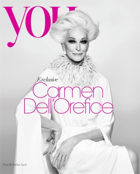 Carmen Dell'Orefice in You Magazine