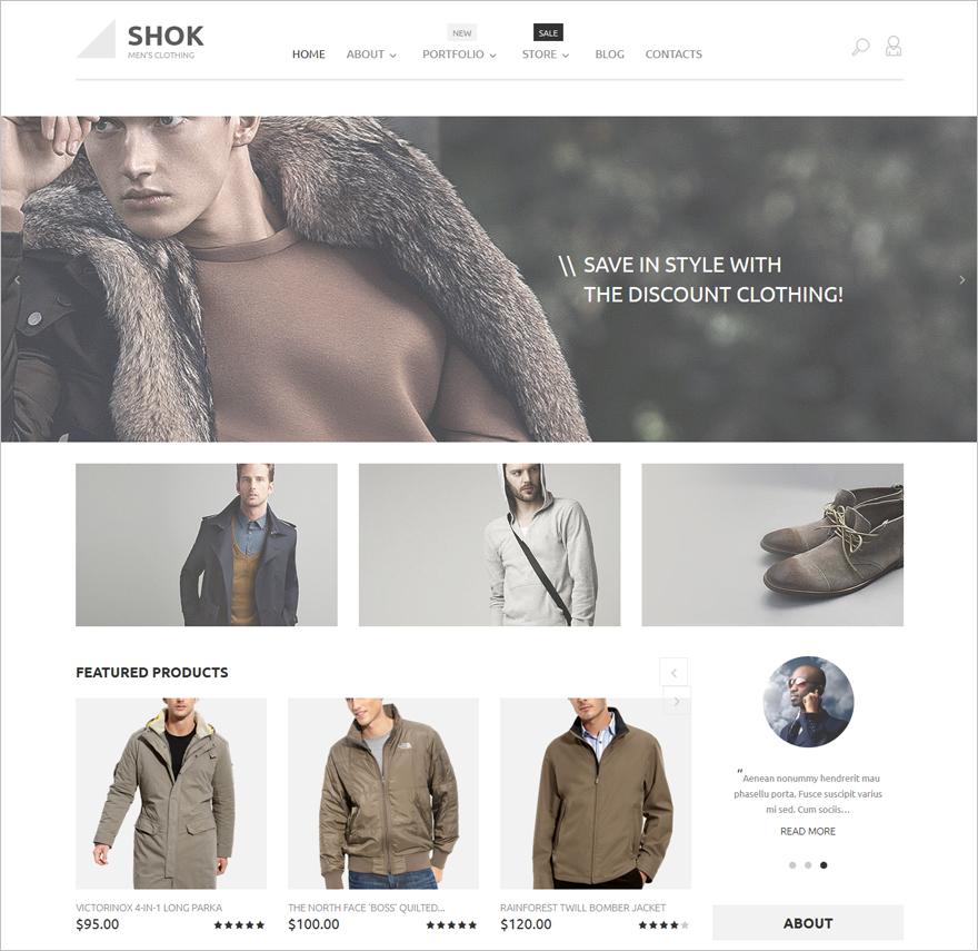 Shok WooCommerce Theme