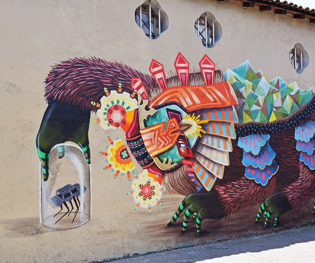 Curiot new mural in mexico city mexico streetartnews for Arte mural en mexico