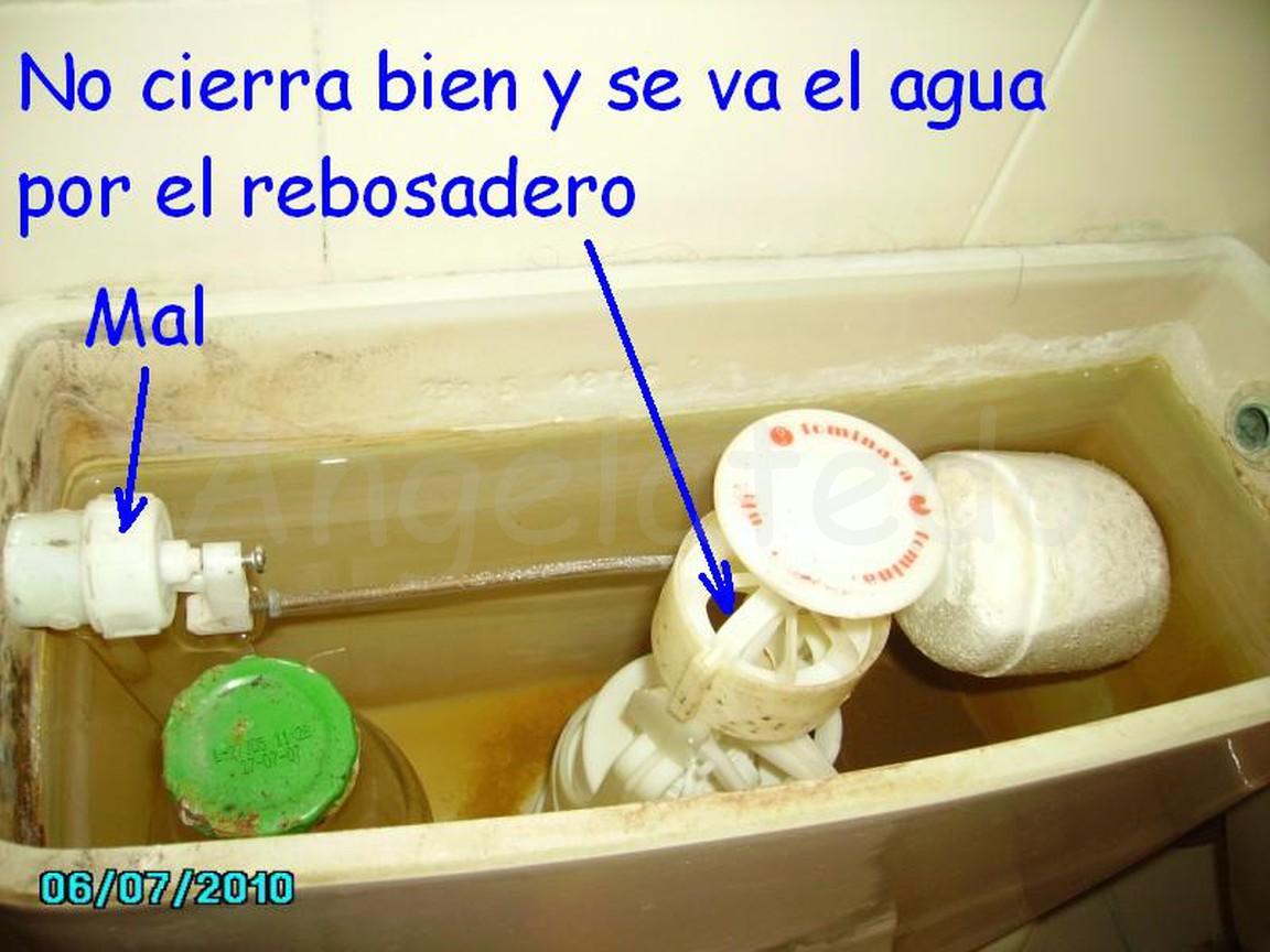 Reparaci n fuga de agua en cisterna el flotador no cierra for Como arreglar una cisterna que pierde agua