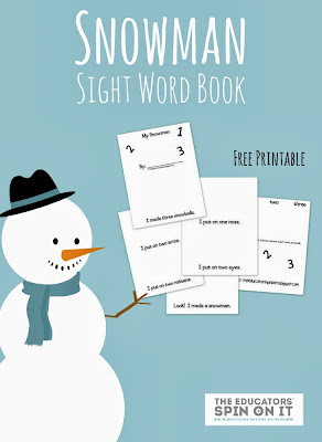 Snowman Themed Sight Word Book from The Educators' Spin On it