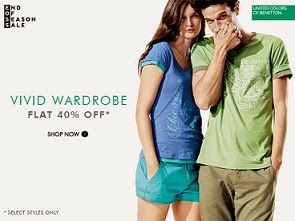 Flat 40% Off + Extra  25% or 30% Off on UCB Clothing / Footwear @ Myntra