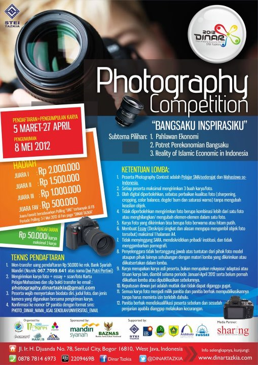 Deadline Penerimaan Karya FOTOGRAFI: 27 April 2012