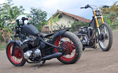 Modification Style GSX 750 cc Vs Norton