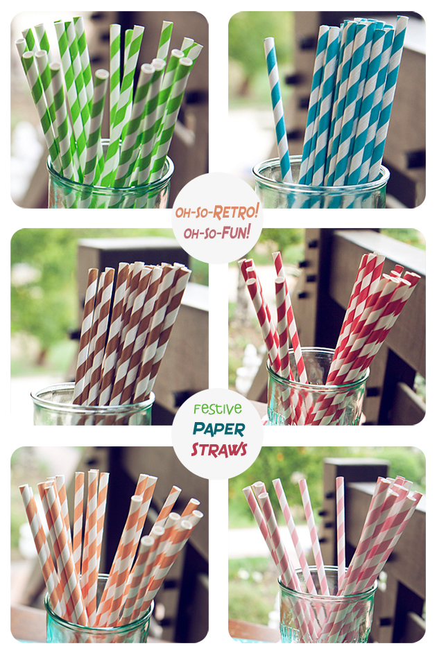 Fun & festive paper straws to color your party or special event!