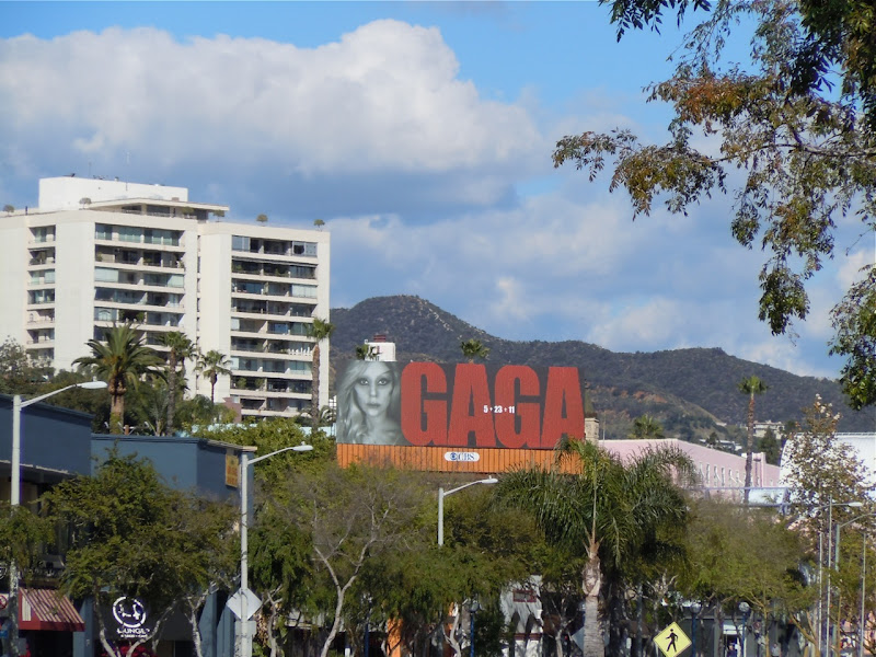 Gaga billboard Santa Monica Blvd