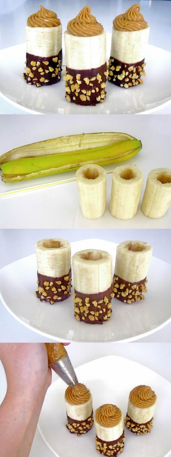 receta de postre hecho con plátanos
