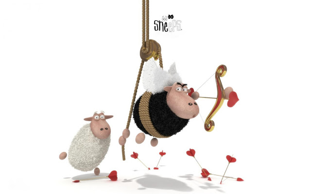 Best Jungle Life sheeps, love, funny, cupidon
