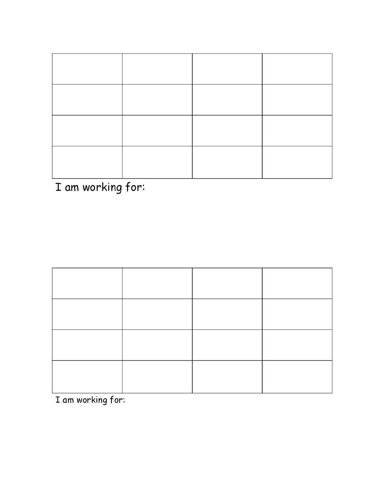 adhd behavior chart templates