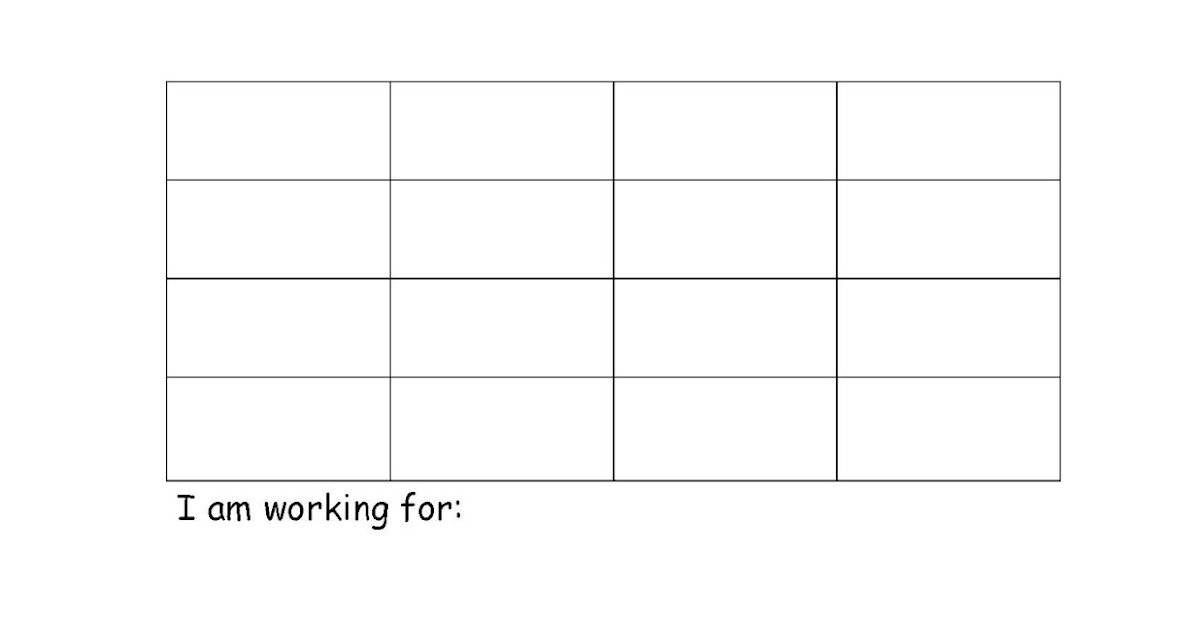 Baldwin Elementary SCORES Program Reinforcement – Blank Sticker Chart