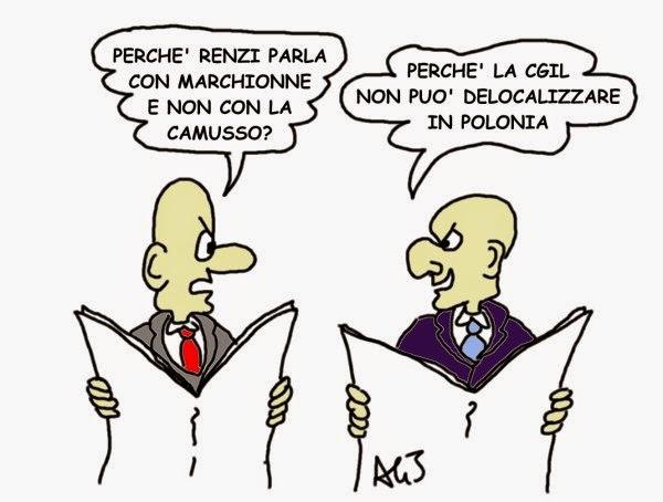 Renzi, Camusso, CGIL