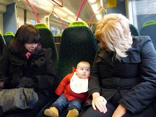 Freddie on the train