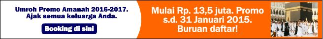 Paket umroh promo amanah 2015-2016-2017