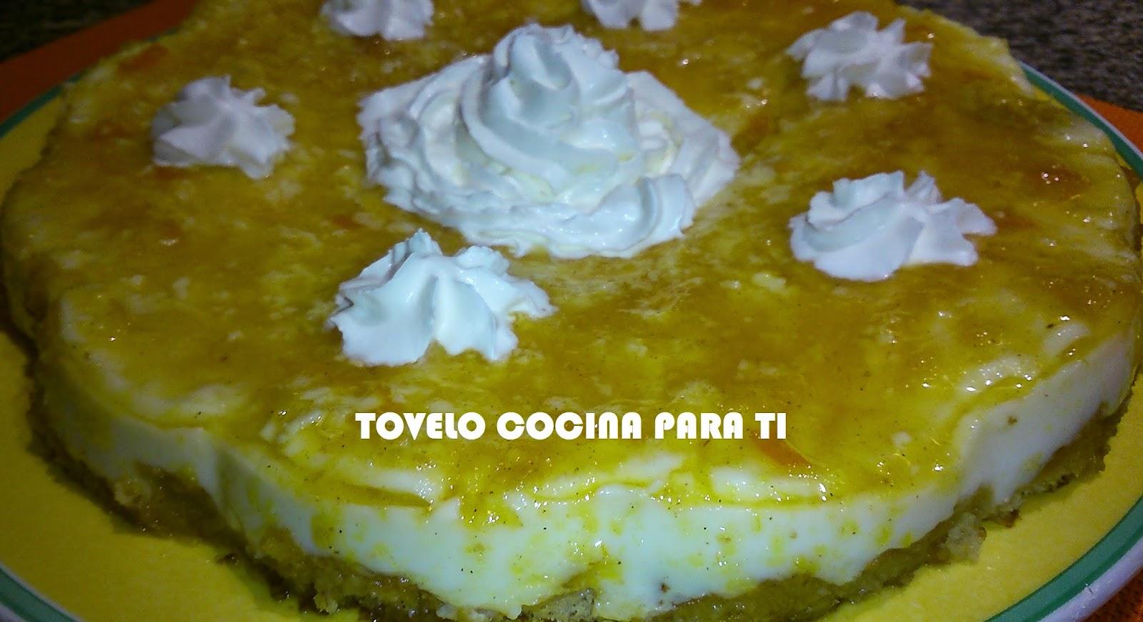 Tarta Cuajada De Mermelada (4 Cítricos)  Y Bizcocho