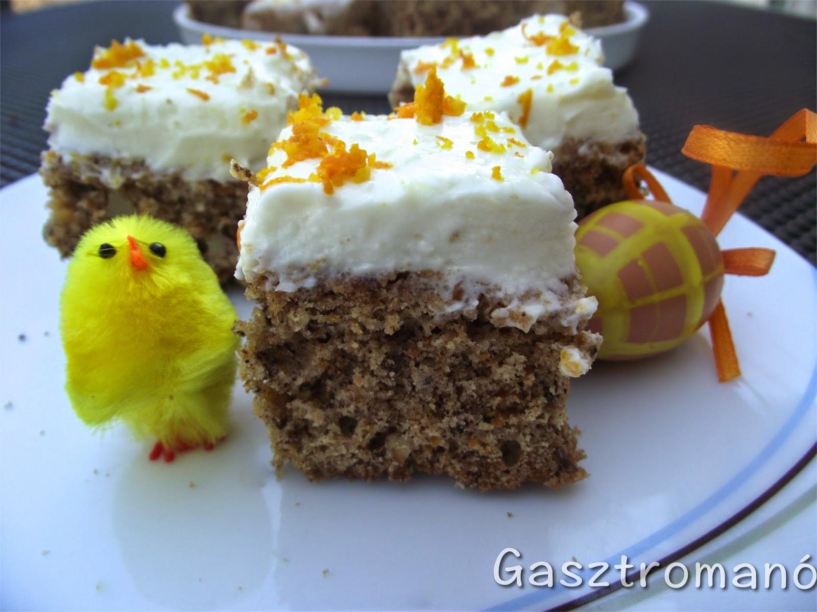 húsvéti répatorta recept