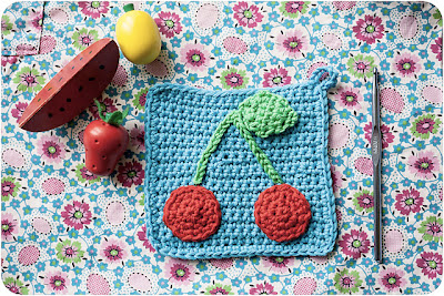 free crochet cherry potholder pattern
