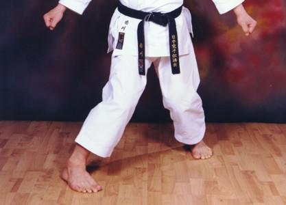 Karate: golpes de puño  Kagawa_hangetsu-dachi