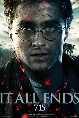 "Harry Potter and the Deathly Hallows: Part 2 ""It All Ends"" Portrait Movie Poster Set - Daniel Radcliffe as Harry Potter"