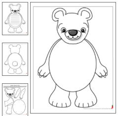 Polar Bear Shape Book with Primary Lines Page, & Movable, Hinged Polar ...