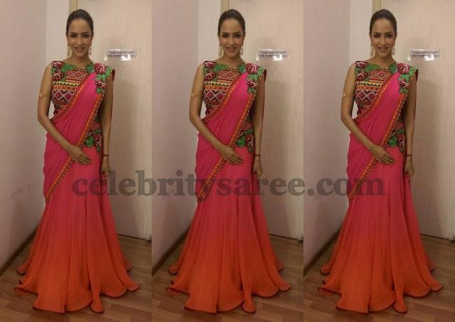 Lakshmi Manchu Georgette Half Saree