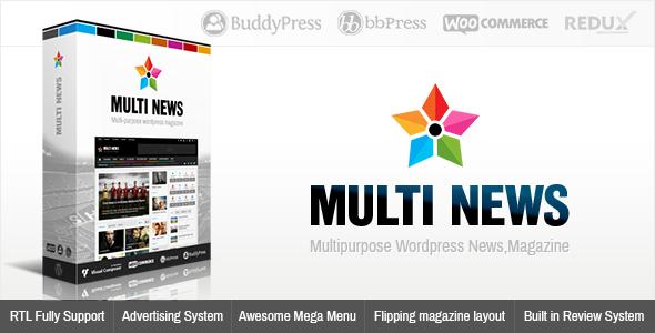 Download Free Multinews Multi-purpose WordPress News Magazine