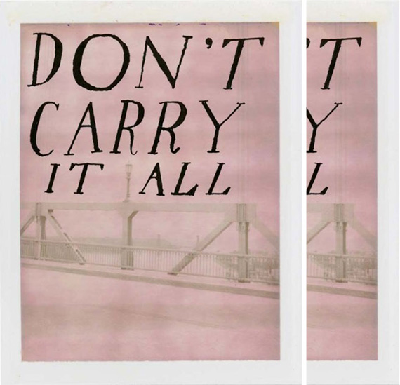 don't carry it all poster