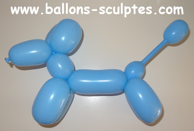sculpture de ballons chien