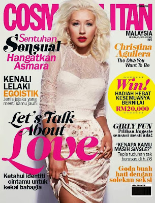 Christina Aguilera Cosmopolitan Malaysia Magazine Cover February 2014 HQ Scans