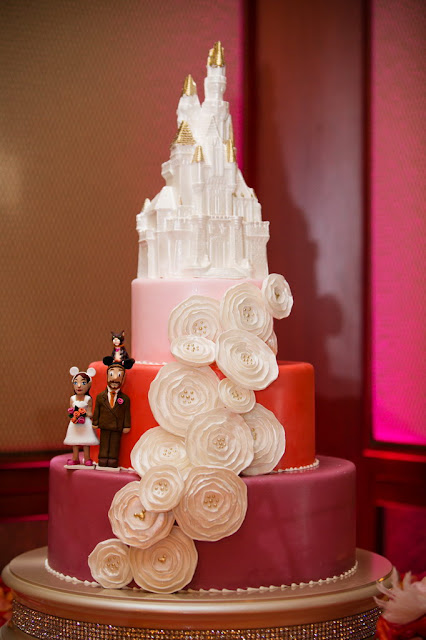 Cake - Wedding Reception in Trillium Room, Grand Californian Hotel