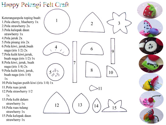 Happy Pelangi Felt Craft