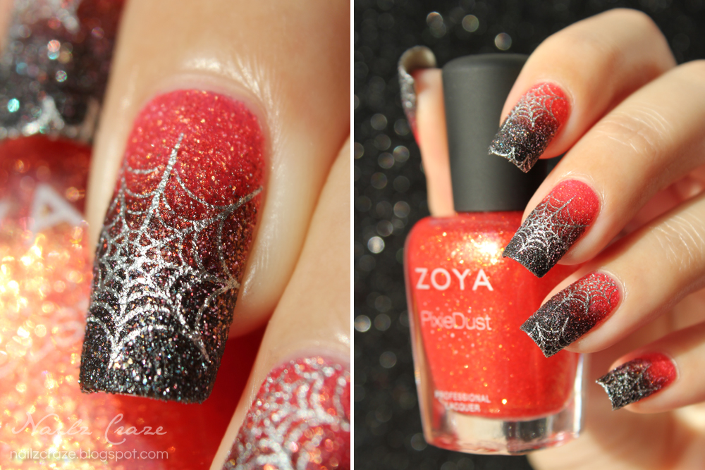 Halloween Spiderwebs Nailz Craze