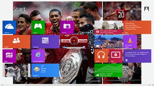 2013/2014 Manchester United Macth Theme For Windows 7 And 8 8.1