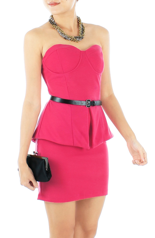 Bustier Peplum Mini Dress