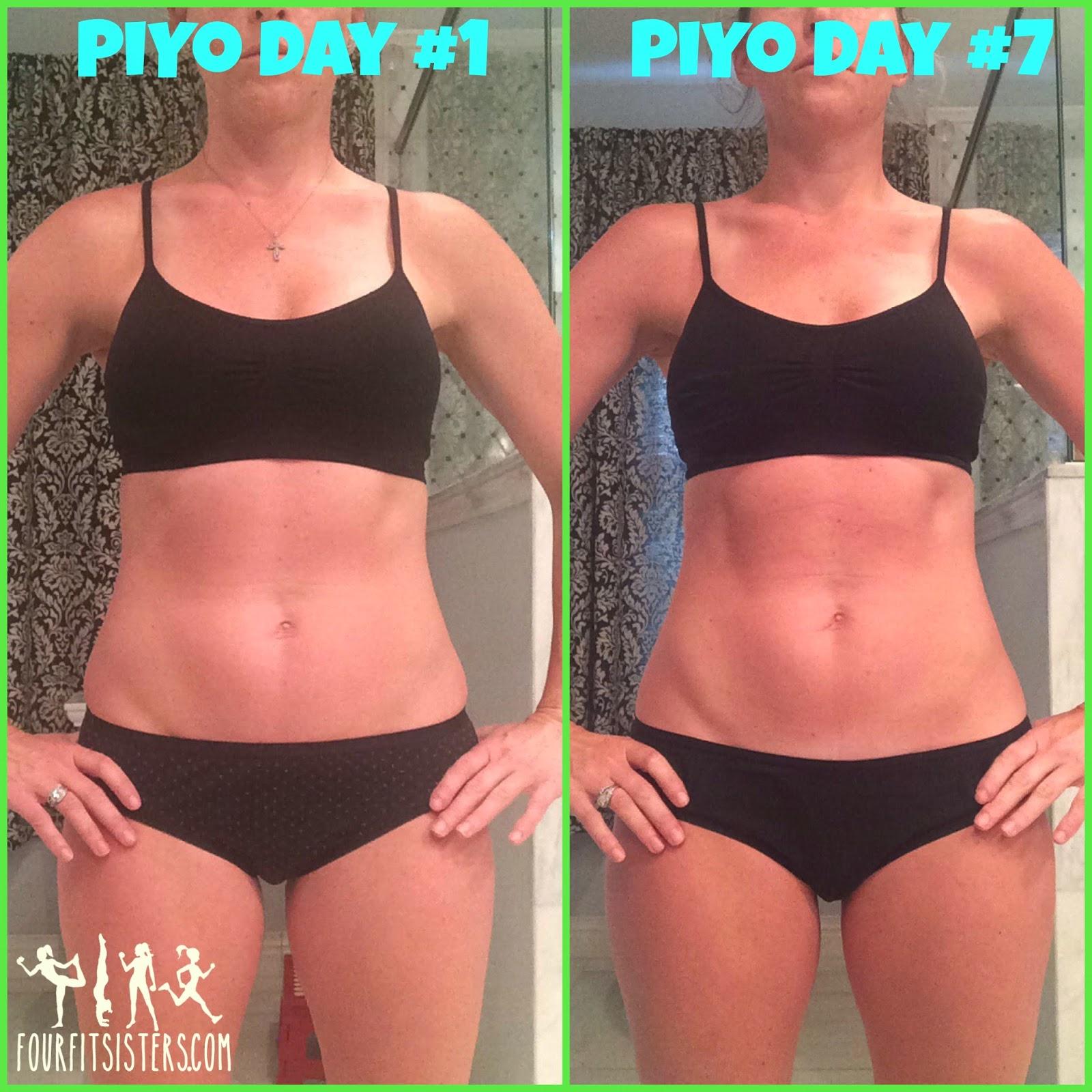 Four Fit Sisters: One week PiYo results