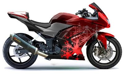 Kawasaki Ninja 250 modifikasi airbrush