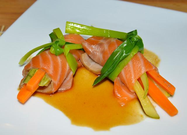 involtini di carpaccio di salmone