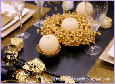 новогодний декор стола своими руками