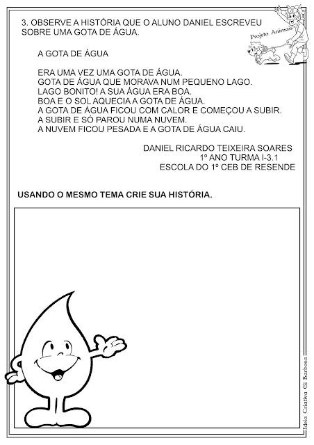 Atividade Projeto Vinícius de Moraes água