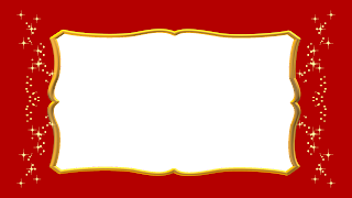 Moldura red e gold png