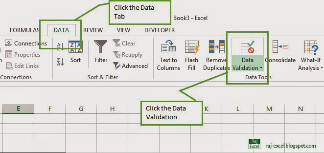 Show the popup text box on cell in Excel 2013