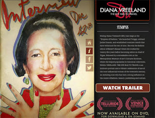 captura web sobre el film de diana vreeland