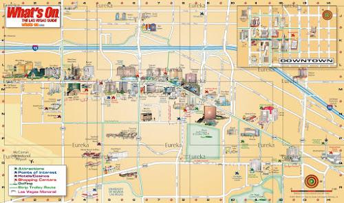 Mapa turístico de Las Vegas – USA