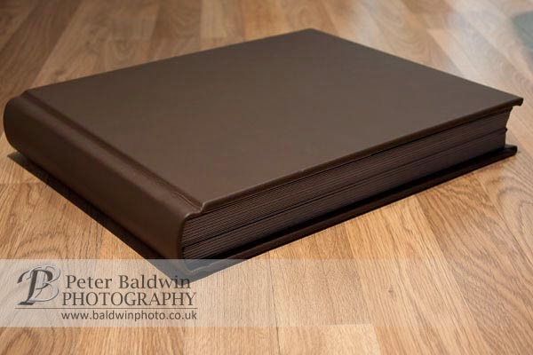 Traditional leather bound album