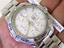 TAG HEUER AQUARACER CHRONOGRAPH WHITE TEXTURE LINE DIAL - AUTOMATIC