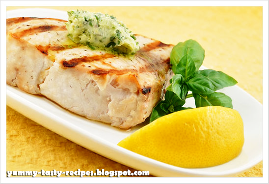 Grilled swordfish with lemon mint and basil recipe recipe