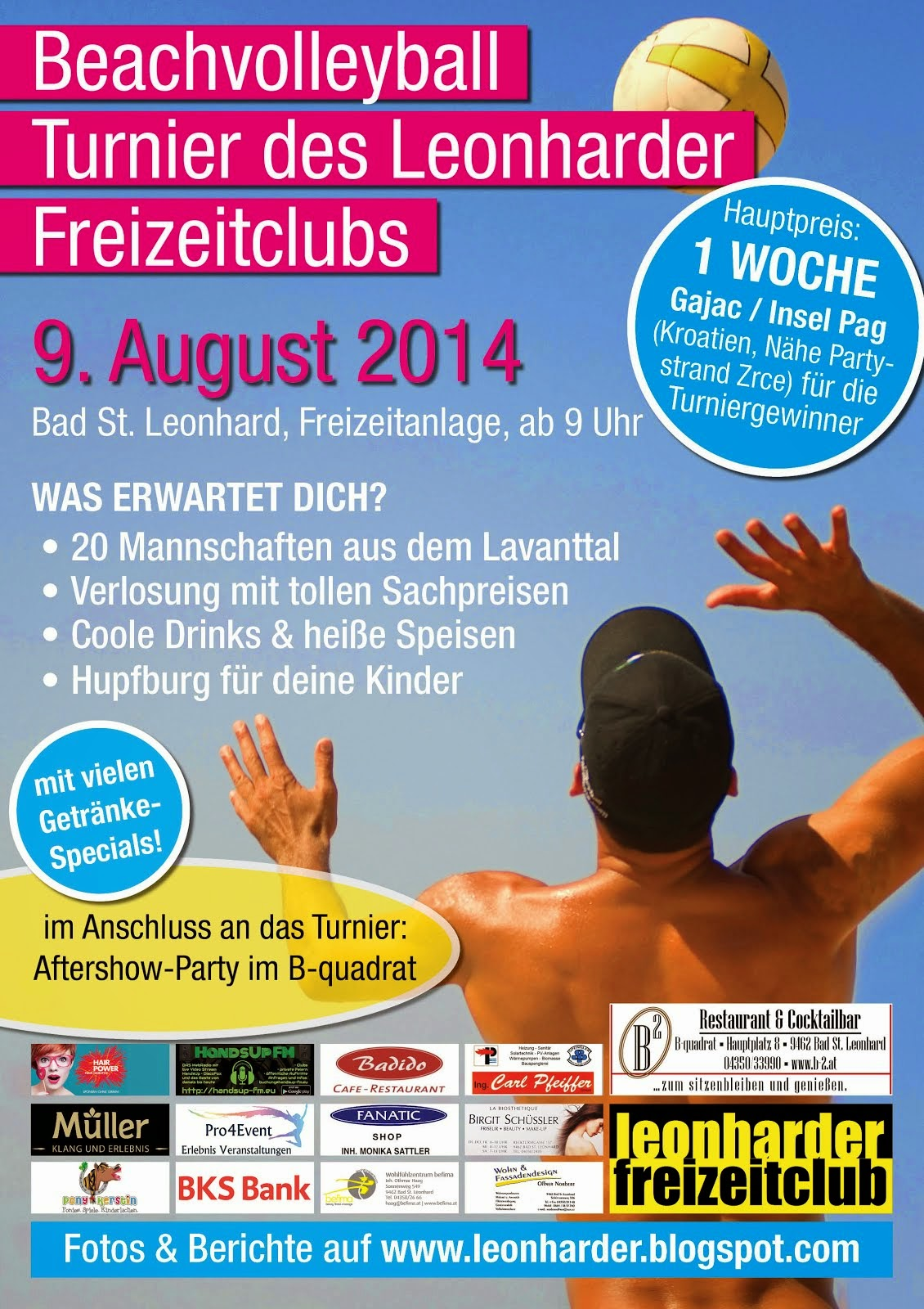 Beachvolleyball Turnier des LFC