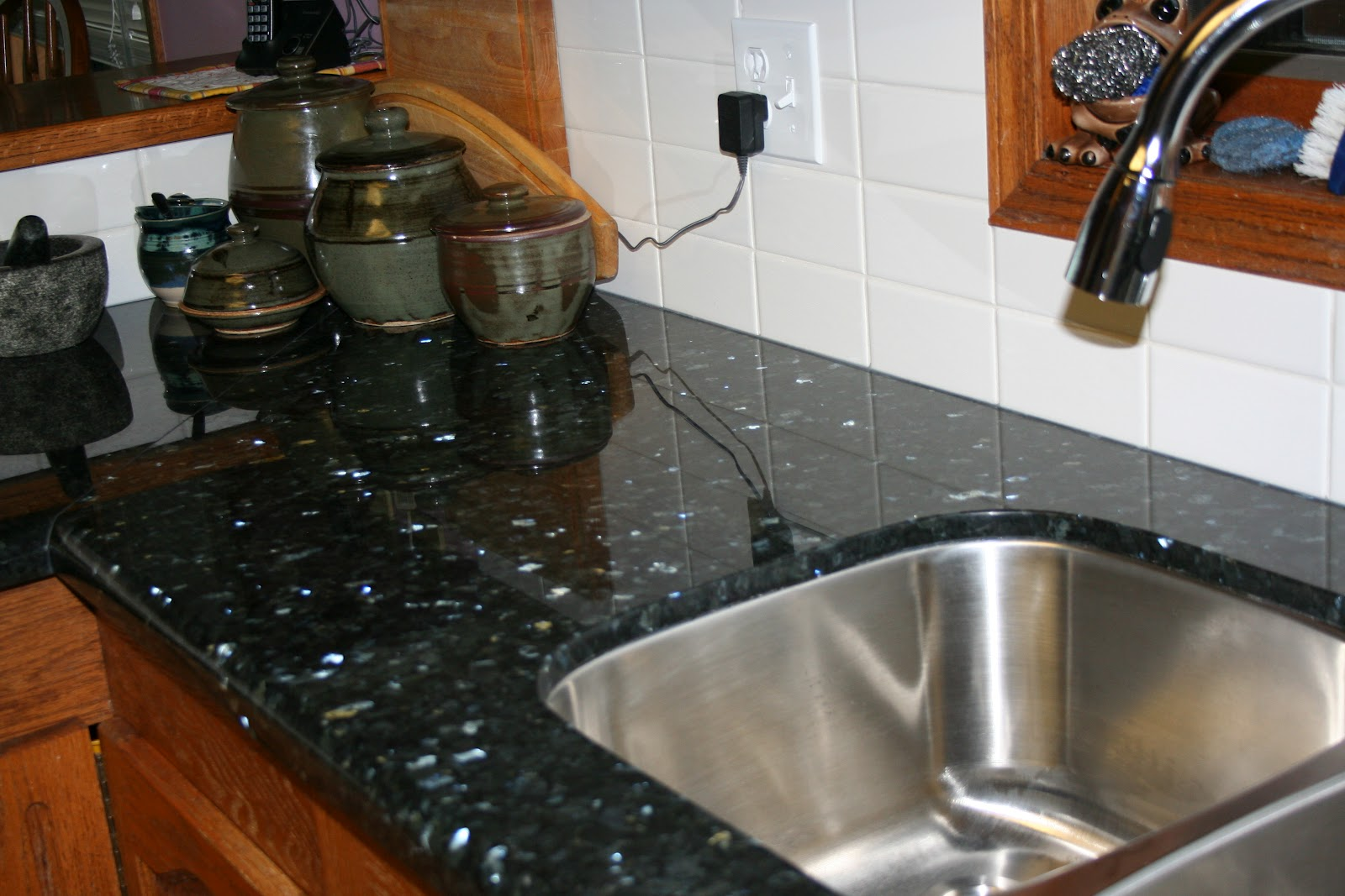 Emerald Pearl Granite Kitchen Tammys Craft Emporium Kitchen Reno Emerald Pearl Granite